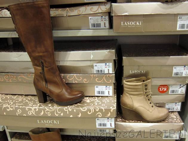 6b3b6673bb6a9 CCC wyprzedaż zimowa 2012/2013 przeceny kolekcji Lasocki, buty skórzane  damskie kozaki botki · Brązowe kozaki na koturnie ...