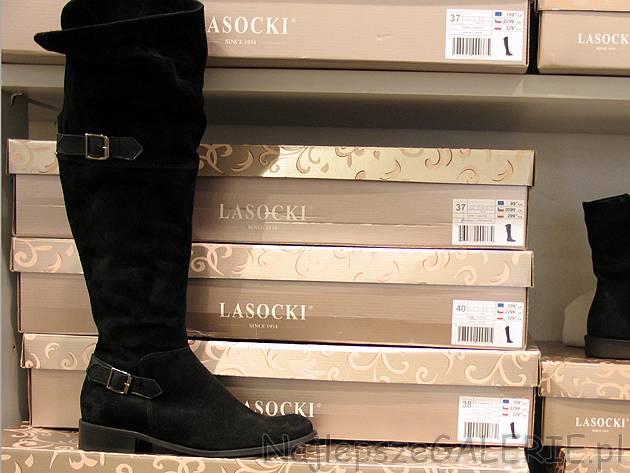 2056704af9080 Bardzo wysokie kozaki nad kolano Lasocki, cena 329PLN. Wykończenie .