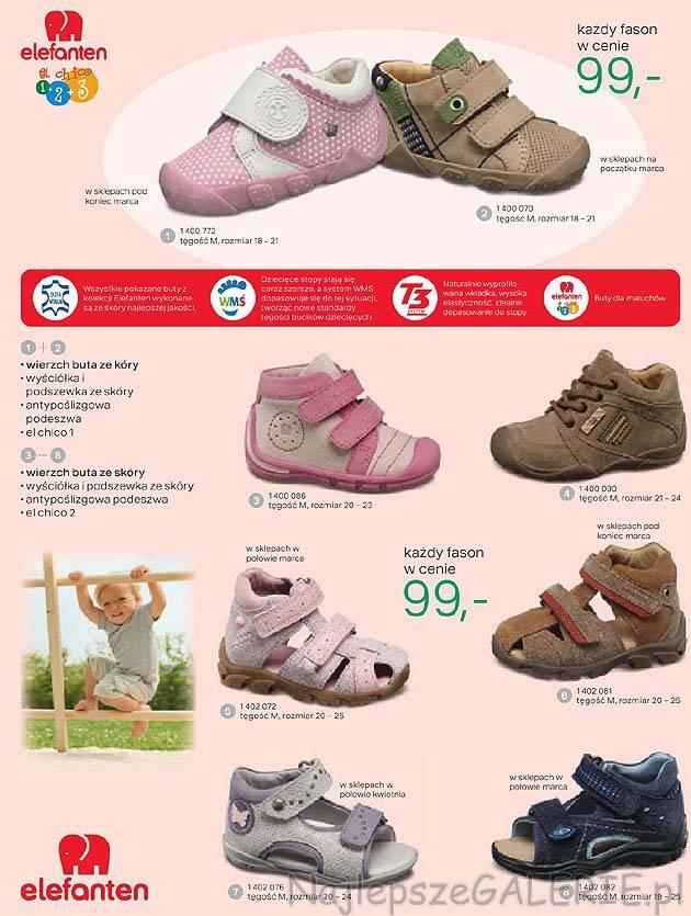 736637d6 Kolekcja Deichmann Elefanten - buty ze skóry naturalnej