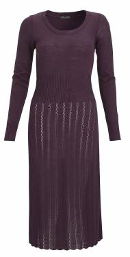 F&F_ladies_Woodland_Solid knit dress-plum_valid, 77 zl, ff kolekcja ...